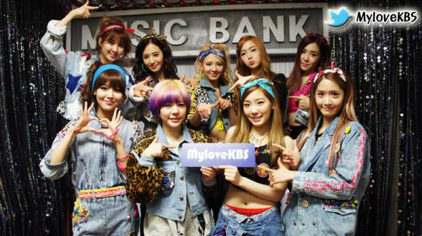 snsd music bank backstage
